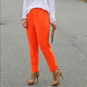 J. Crew Bright Orange Reese Pants NWT